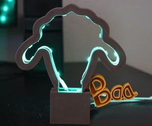 "LED Sheep ""Baa"" Light (Made in Fusion 360)"