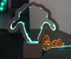 """LED绵羊""""BAA""""光(融合360制造)"""