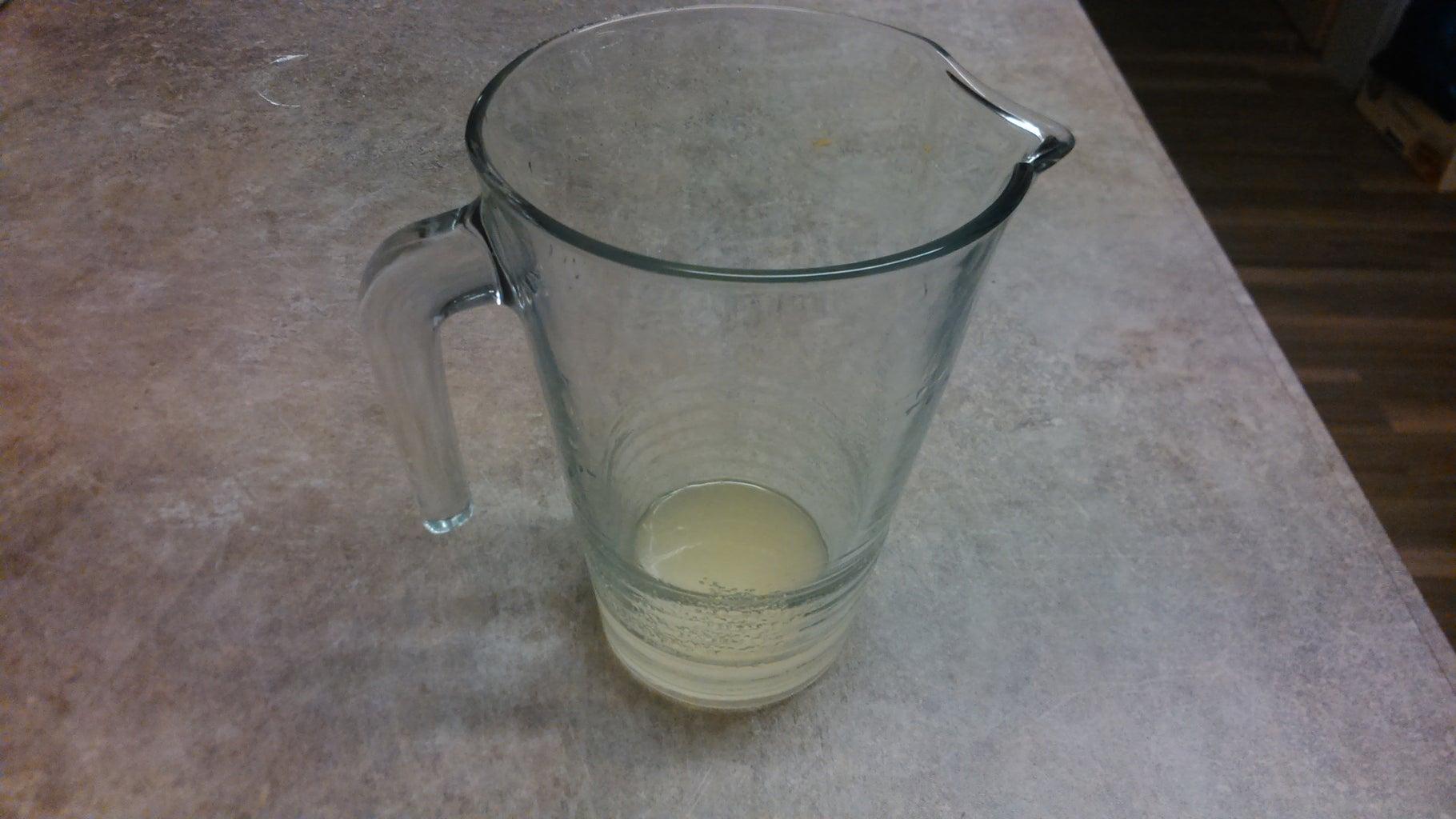 Lemon Juice and Sugar - Boil Water
