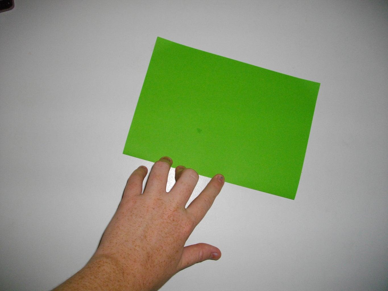 Fold Paper in Half Widthways