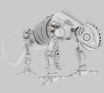 Dinobot- Heavy Metal Robot for 3D Print