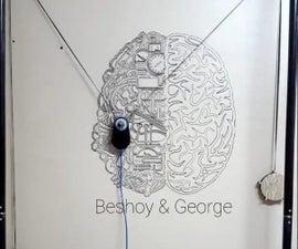 Wall Drawing Machine Using Tripod and Polargraph