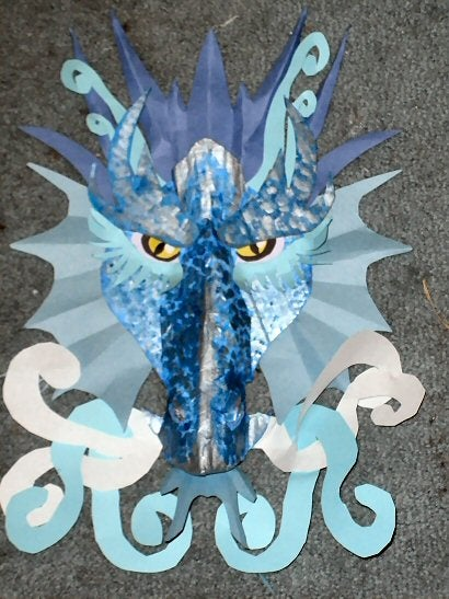 Cardboard Ice Dragon Craft