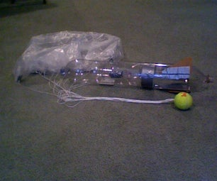 How to build a bottle rocket with a parachute.