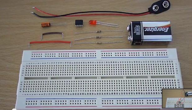 555 timer flashing led circuit