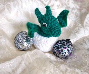 Crochet Dragon Eggs With Baby Dragon