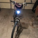 Inexpensive Front and Rear Bicycle Bright Led Lights With Three Operating Modes-solid white, solid red or flashing red