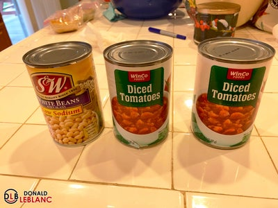 Step 5 - Add White Beans, Tomatoes, and Water