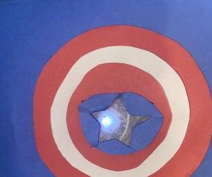 Captain America Shield Breadboard LED Creative Switch