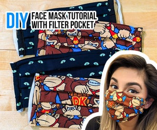 DIY Face Mask With Filter Pocket