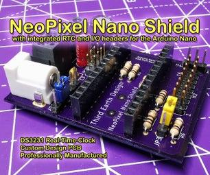 Arduino Nano NeoPixel Shield With Integrated RTC