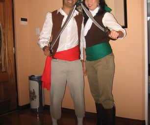 Guybrush Threepwood and Elaine Marley Pirate Costumes (Monkey Island)