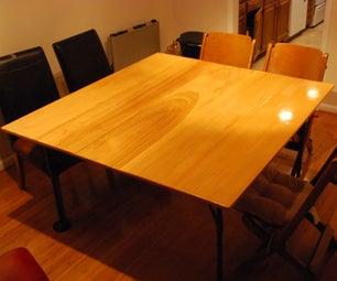 Iron-leg Poplar Dining Table