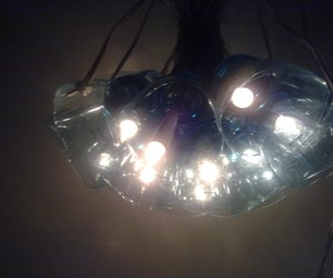 Ceiling Lamp With Water Bottles