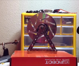 Overbalanced Wheel (Fake Perpetual Motion Machine for Fun)