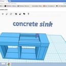 concrete-sink 123D