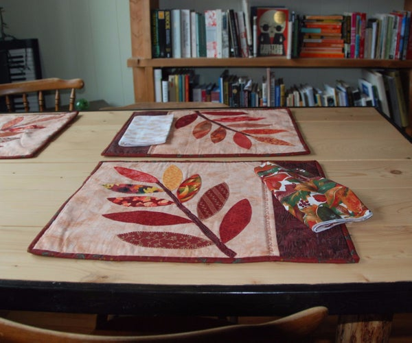 Autumn Leaves Placemat and Napkins