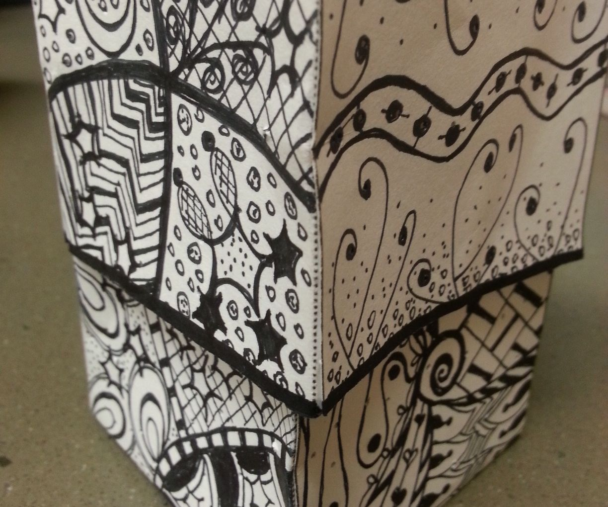 Zentangle Chibitronics Box