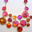Painted Desert Silver and Resin Necklace