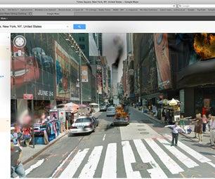 Apocalyptic Landscape on Google Streetview