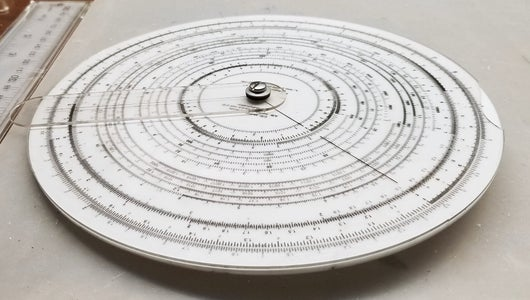 Circular Slide Rule Made With a Laser Cutter