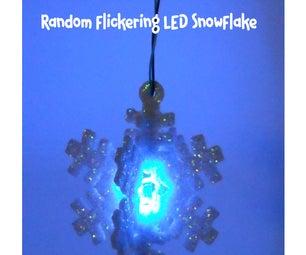 Random Flickering LED Snowflake