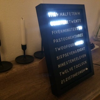 Simple Word Clock (arduino)