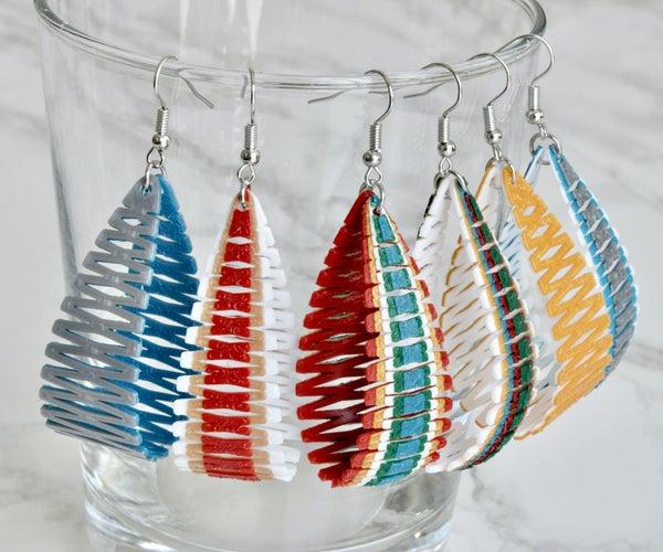 Living Hinge Earrings - 3D Print