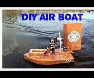 RC Air Boat Using Parcel Tape