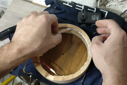 Gluing the Led Strip - 1