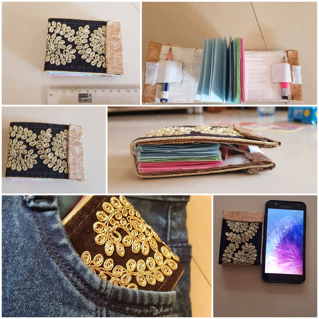 Pocket Size Notebook With Pencil Holder