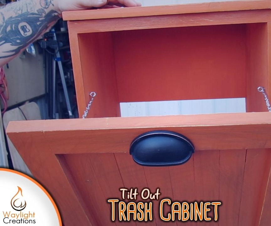 Make a Tilt Out Trash Bin