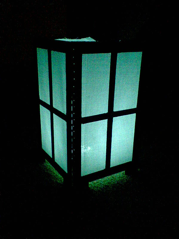 Asian style motion sensored night light