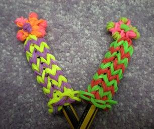 Rainbow Loom, Flower Pencil Hugger