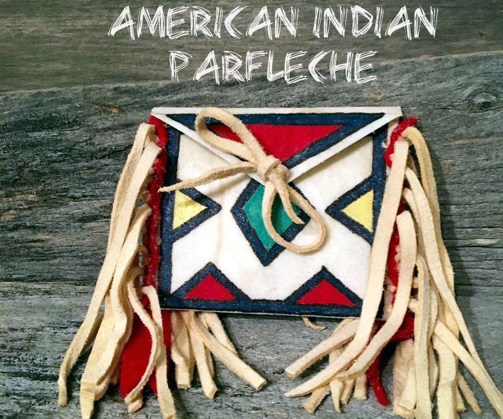 Mini American Indian Plains Style Parfleche