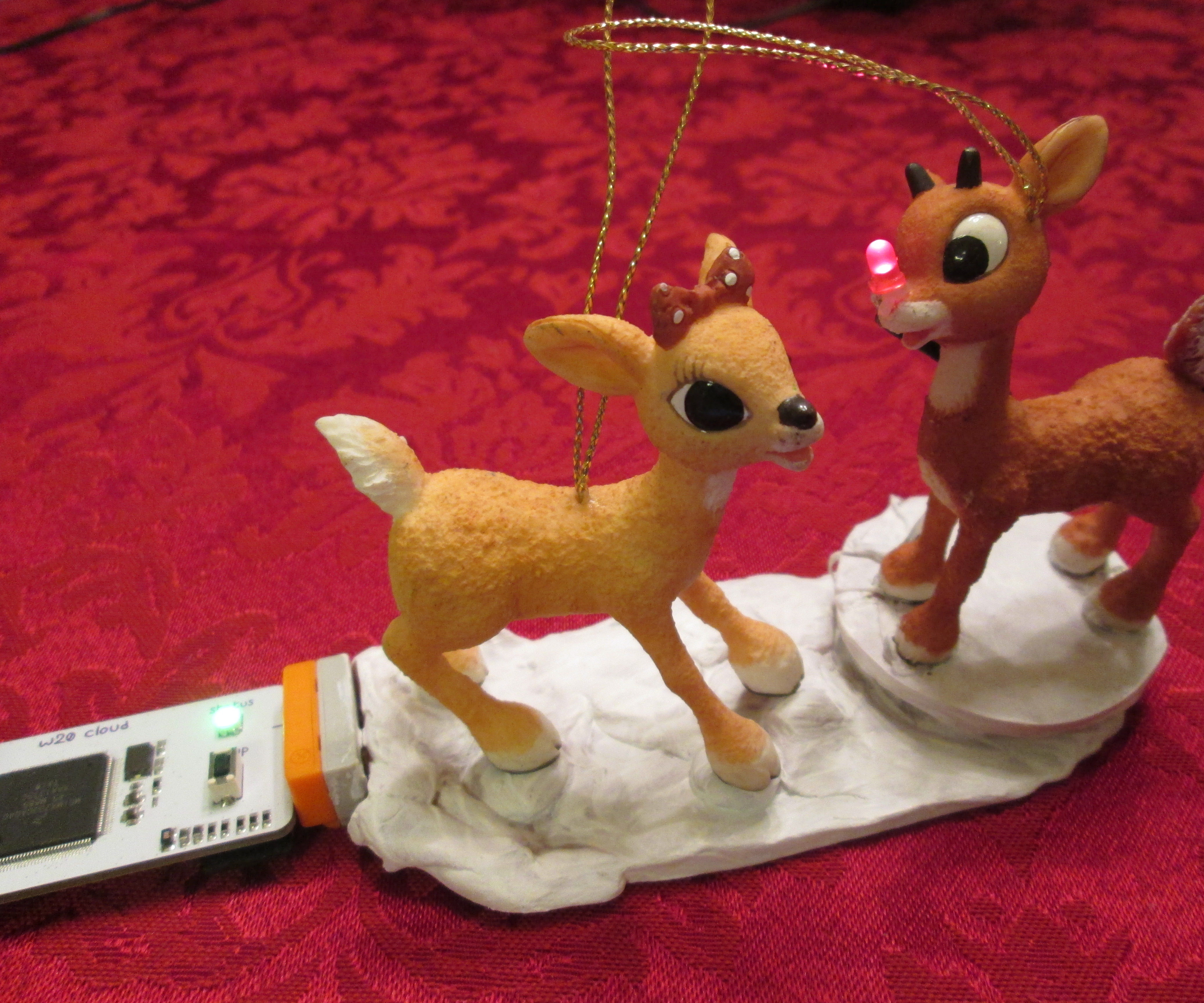 Rudolph's Nose - Internet Connected!