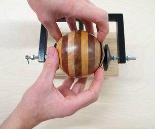 Jig for Cutting a Wooden Ball