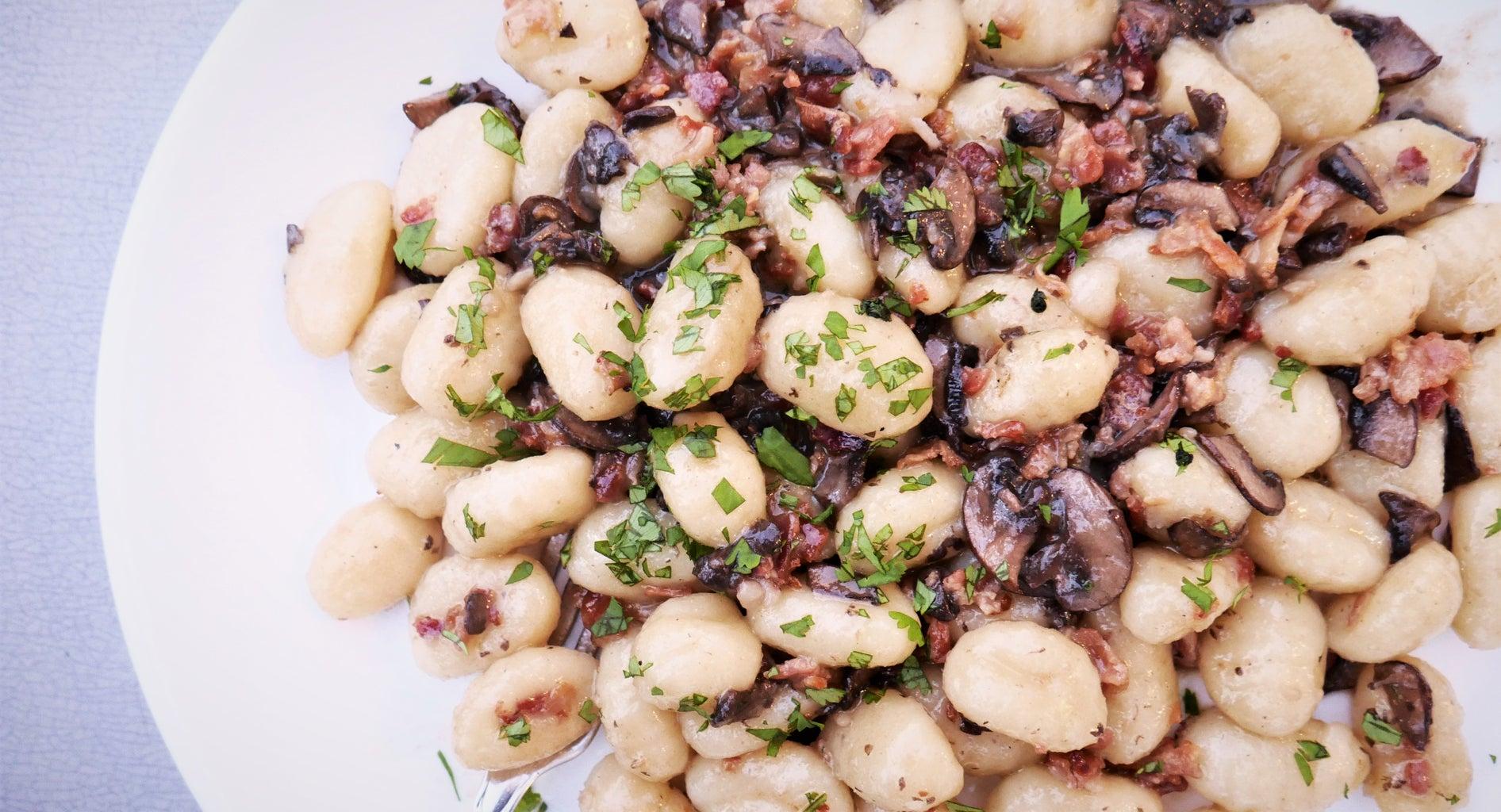 Garlic Mushroom Gnocchi