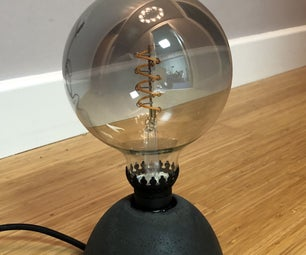 Easy Concrete Lamp From IKEA Parts