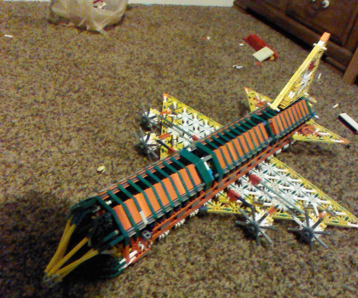 HUGE K'nex Airplane