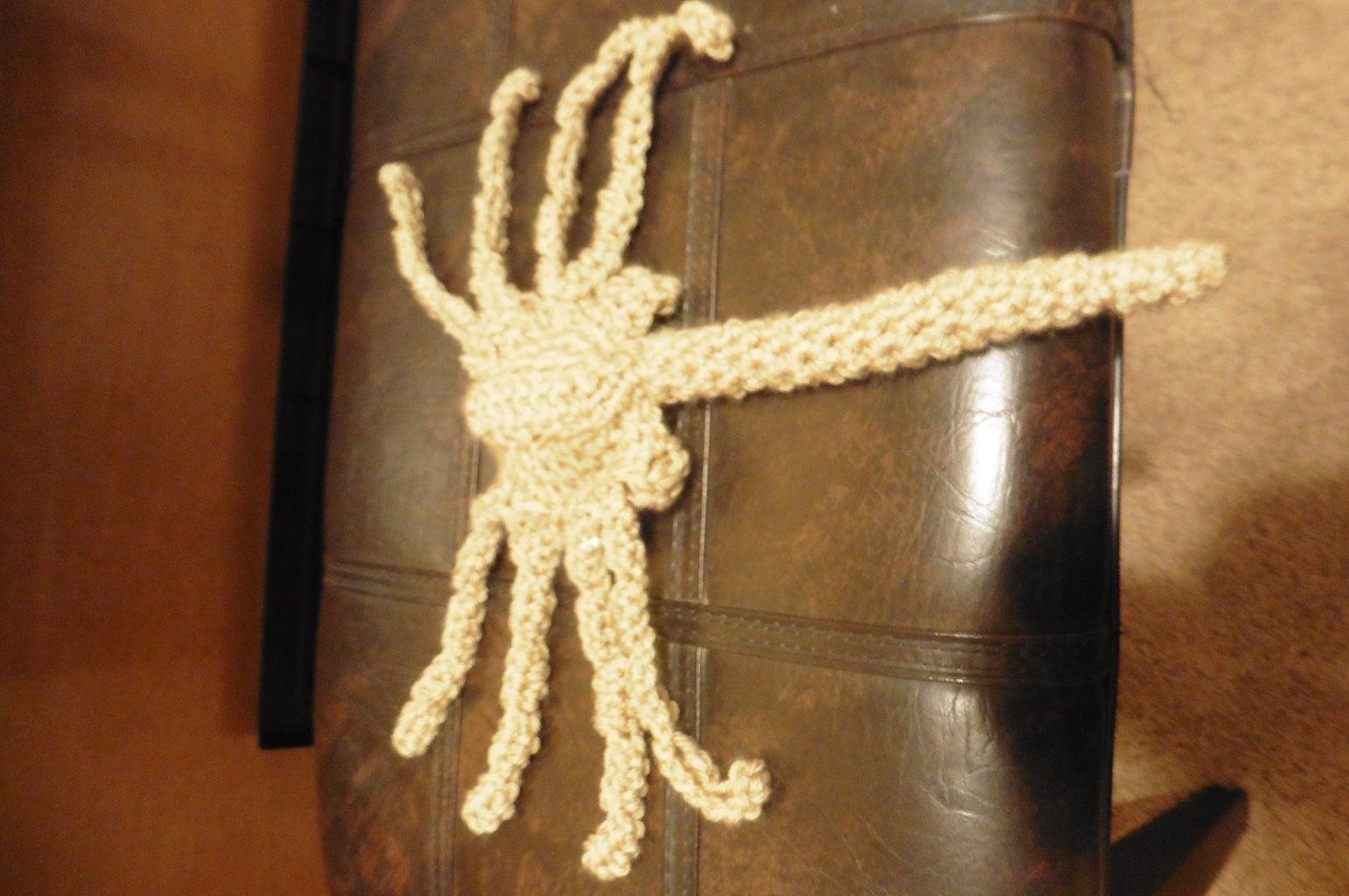 Crochet Alien Face Hugger