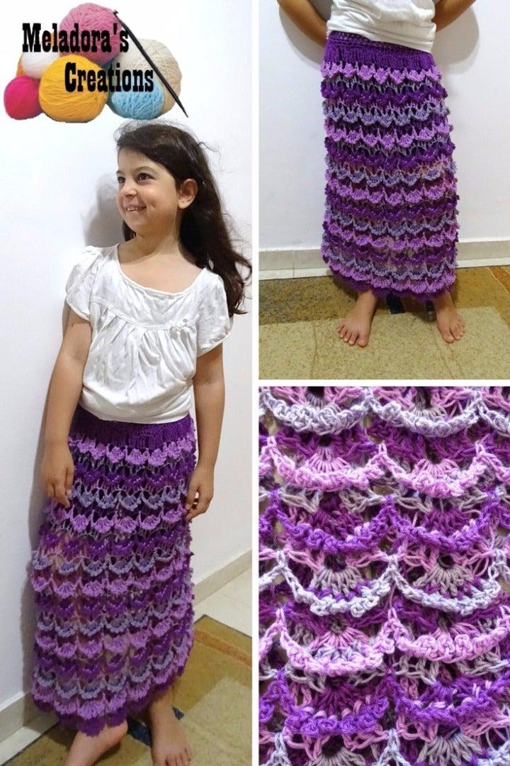 Picot Shell Skirt - Free Crochet Pattern
