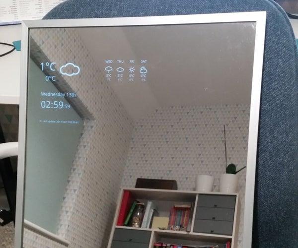 Smart Mirror Using Broken Android Tablet
