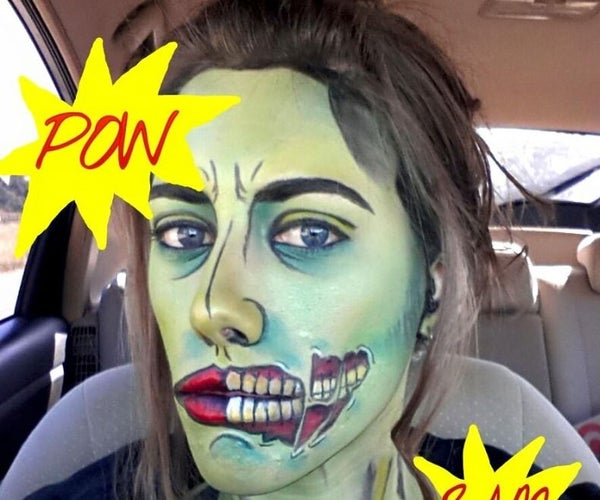 Make-up Transformation! POPzombie! How To! Like and Subscribe.