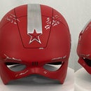 Sizing and Post-processing a 3D Printed Helmet (Red Guardian - Black Widow Movie)