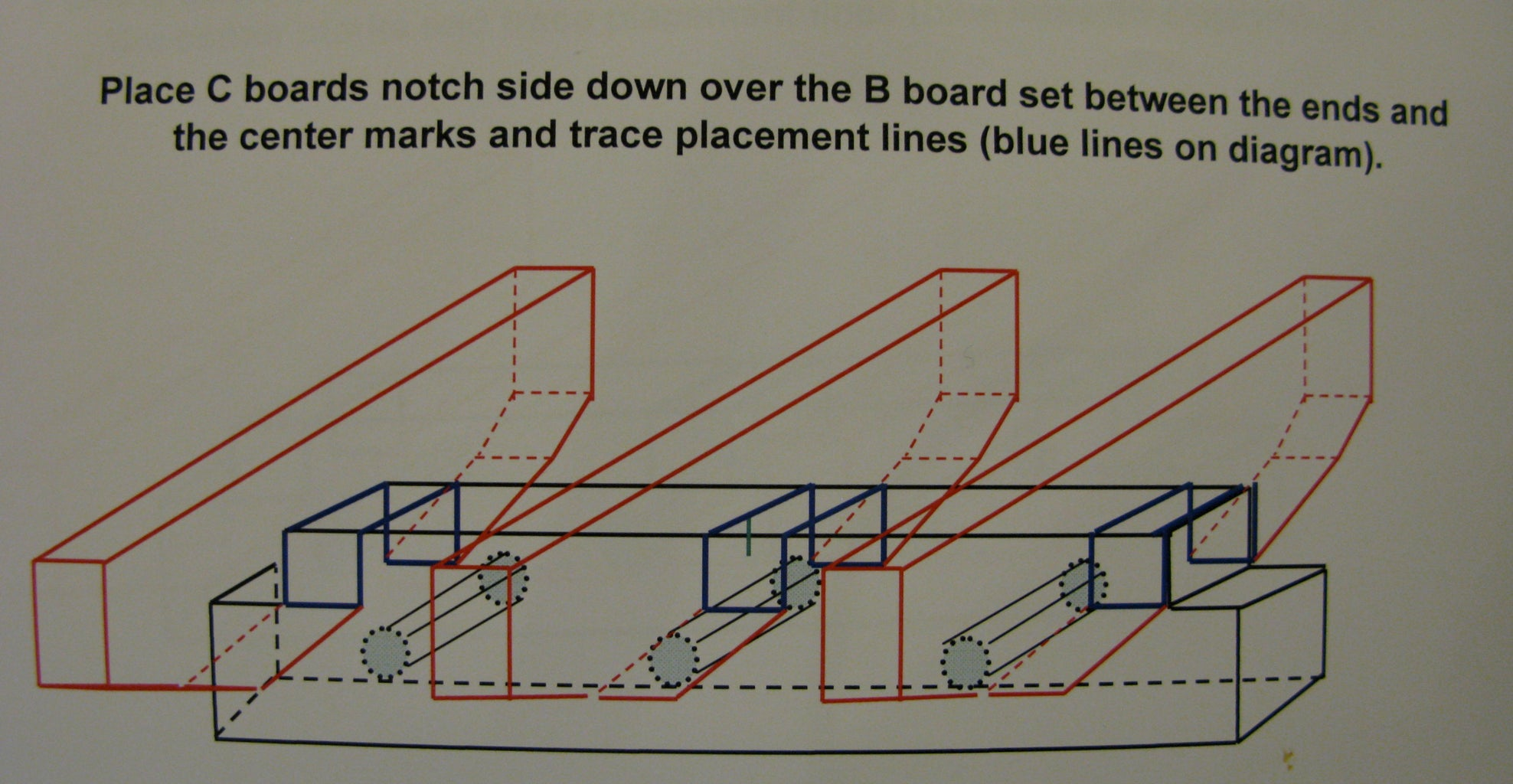 STEP TEN:  Attach C Boards to B Boards to Form the Base