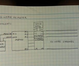 EL Wire VU Meter