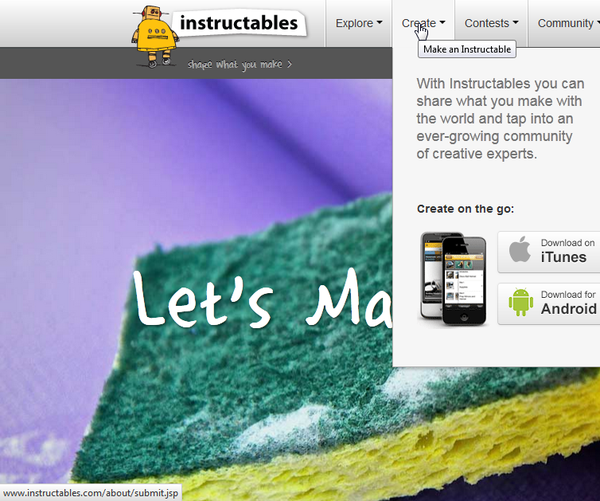 Setting Up an Instructable