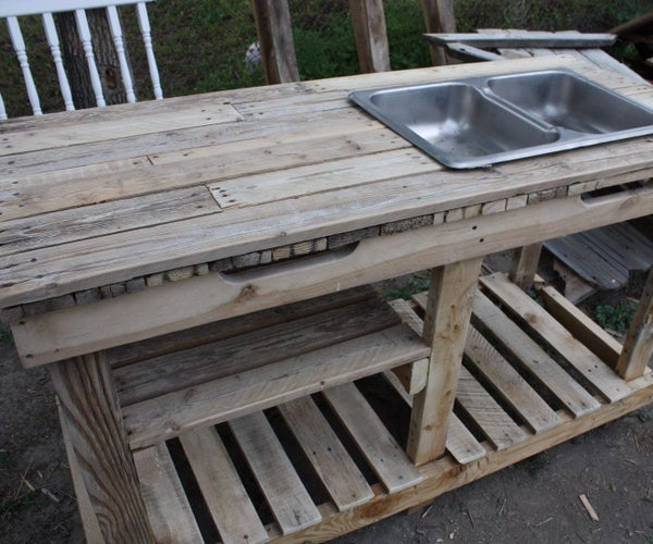 Garden Wash Basin Out of Pallets
