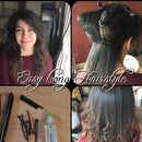 Easy Long Hairstyle Using A Smoothing Iron